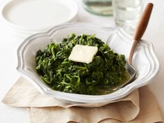 Garlic Sauteed Spinach recipe from Ina Garten via Food Network