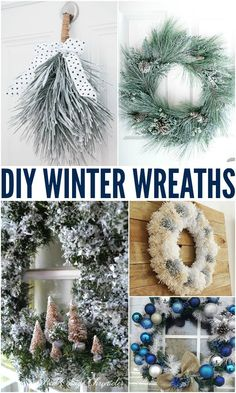 Budget Friendly DIY Winter Wonderland WreathsDon't wait for the holidays to come knocking down your door, get ready with some beautiful and frugal inspiration to greet your guests and warmyour neighbors hearts as they drive by and see these greeting them. Diy Projects To Do At Home, Diy Craft Projects, Diy Crafts, Christmas Diy, Christmas Decorations, Holiday Decor, Diy Bracelets Easy, Winter Wreaths, Christmas Inspiration