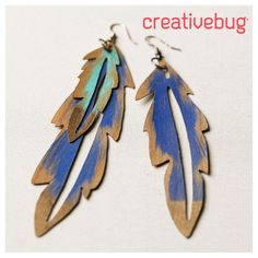 These DIY feather earrings can be made in all shapes and sizes. The Cricut cuts each shape precisely for a clean finish.