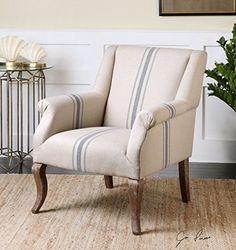 Best Amazon Com Farmhouse Arm Accent Chair Country Blue 400 x 300