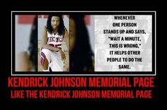 STAND UP FOR JUSTICE 4 KENDRICK JOHNSON KENDRICK JOHNSON MEMORIAL PAGE SHARE THIS PAGE https://www.facebook.com/pages/Kendrick-johnson-memorial/350217198455813