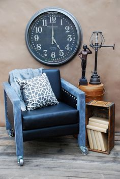 "CWTS Upcycle Entry- Thrift store chair given new style and life as a ""Man Chair!"""