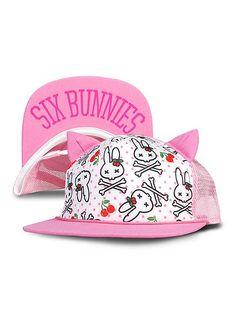 SIX BUNNIES Bunnies, pink Kids Mesh-Cap