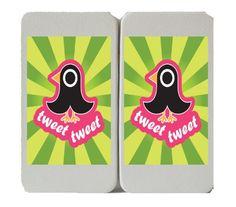 'Tweet Tweet' - Cute Singing Sparrow Anime Style - Taiga Hinge Wallet Clutch