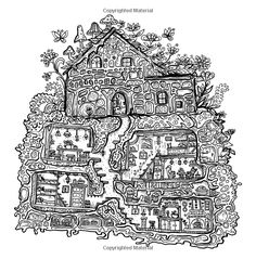 Secret Village - A Coloring Book Adventure: Beyond the Garden Gate, Beneath the Forest Floor, Among the Hollow Trees - A Mystery Endures! (Purse Sized ... Inspirational for Ages 9 to Adult) (Volume 2): Sarah Janisse Brown: 9781519393999: AmazonSmile: Books