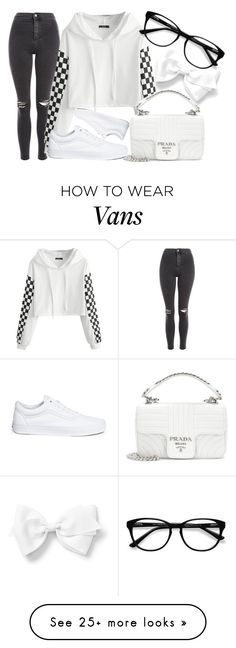 """Untitled #2698"" by iamclaudine on Polyvore featuring Topshop, Prada, Vans and EyeBuyDirect.com"
