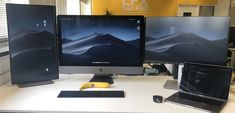 My daily setup. iMac Pro and a MacBook Pro. (Banana for scale) : macsetups Macbook Pro Setup, Macbook Laptop, Computer Desk Setup, Gaming Setup, Iphones For Sale, Unlock Iphone, Diy Tech, Wet Wipe, Apple Mac
