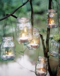 Lovely home made garden tea lights.