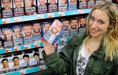 Tinting Eyebrows with Men's Mustache cream, xovain.com