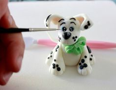 Polymer Clay Picture Tutorial Dalmation Dog