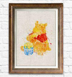 Pooh bear watercolor