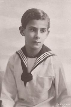 Prince Ernst of Hohenberg (1904-1954) youngest child of Archduke Franz Ferdinand. 1910s.