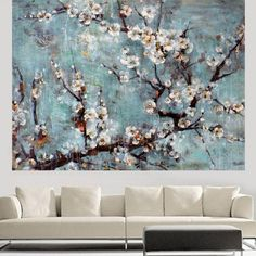 Handpainted Modern Beautiful Flowers Abstract Landscape Oil Painting On Canvas For Wall Art Home Decor Picture