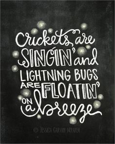 Chalkboard Print - Digital File - Lightning Bugs - Fishing in the Dark Lyrics Chalkboard Print, Chalkboard Ideas, Summer Chalkboard Art, Chalkboard Signs, Kitchen Chalkboard, Chalkboard Doodles, Chalk Ideas, Dark Lyrics, Chalk It Up