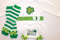 St. Patty's Day Tee and Bloomer Set - Baby Girl - Bloomers - Shamrock - St. Patricks Day Baby