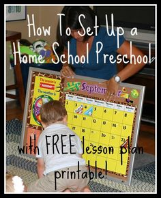 How to set up a home school preschool with FREE lesson plan printable!