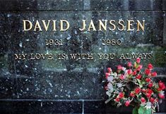 David Janssen's Grave (photo) - from The Fugitive tv series and other. RIP