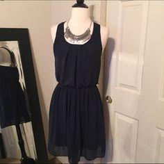 Preowned Navy Macy's Dress Like new Macy's Dresses