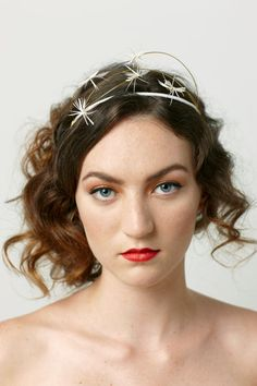 Bridal feather headpiece Shooting Stars headband by emilliner, $120.00