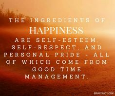 The ingredients of happiness.