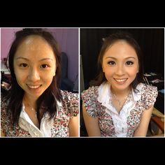 Prewedding makeup, before & after. Bride: Wen Sze #wedding #bride #makeup