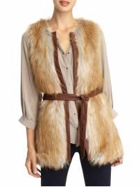 ok so I already have like 6 faux fur vests but really I NEED this one.  It is so different from the rest.  Love the leather trim and belt!