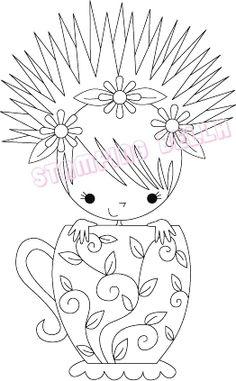 Stamping Bella - Miranda the Teacup girl
