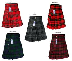 Scottish Men's Modern 16oz Tartan Pockets Utility Kilt, Cargo Kilt, 7 Tartans #AllSafe #Kilt Kilt Belt, Kilt Jackets, Punk Jackets, Tartan Men, Tartan Kilt, Scottish Man, Scottish Kilts, Modern Pocket Watch