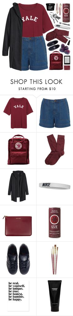 """""""BE YOURSELF"""" by emmas-fashion-diary ❤ liked on Polyvore featuring Fjällräven, Brooks Brothers, H&M, NIKE, Comme des Garçons, adidas, Witchery and Shay"""