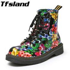 Cheap walking shoes, Buy Quality sneakers sneakers directly from China sneakers walking Suppliers: Tfsland Winter Fur Inside Women Beautiful Flowers Walking Shoes Snow Boots Female Lace-Up Motorcycle Flats Ankle Boots Sneakers
