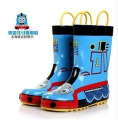 Free shipping! Thomas 2017 Children's rain boots / boy and girl PVC non-slip rubber warm water shoes size 23-36 #Affiliate