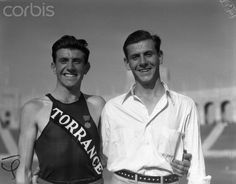 Louis Zamperini with his brother