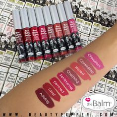 Meet Matte Hughes liquid lipstick-pretty shades that really last by the Balm Cosmetics.