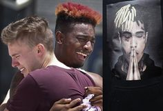 dbde6caea36 Heartbreaking photos of XXXTentacion fans crying at his six-hour  open-casket memorial at seat Florida arena