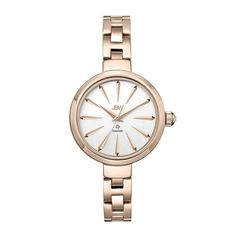 JBW Women's J6326E Emerald 0.01ctw 18K Rose Gold-Plated Stainless Steel Diamond Watch