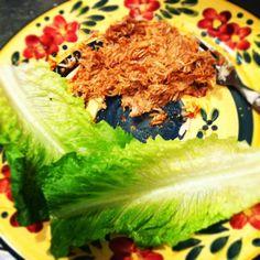 Healthy Dinner Bbq Shredded Chicken Lettuce Wraps.  | Healthy Food