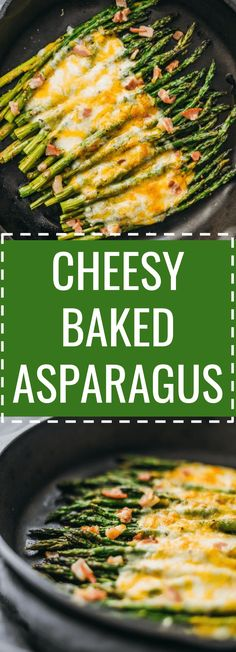 Here's an easy side dish recipe: baked asparagus topped with melted cheese and bacon. keto, low carb, diet, atkins, induction, meals, recipes, easy, dinner, lunch, foods, side, dish, roasted, how to cook, oven, appetizer, garlic, cheesy, .skillet, best, pan,  #asparagus #healthy via @savory_tooth