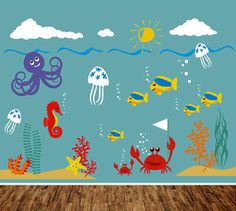 Kids Wall Decal Playroom Nursery Wall Sticker by PurpleWall, $139.00