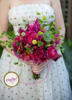 How to Make a Wild Flower Mart Wedding Bouquet « A Practical Wedding: Ideas for Unique, DIY, and Budget Wedding Planning