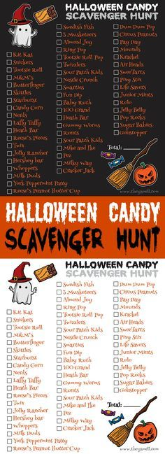 Halloween Candy Scavenger Hunt Printable - take your Trick-Or-Treating fun to…