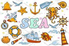 SEA -big set. (vector) by pashigorov on @creativemarket