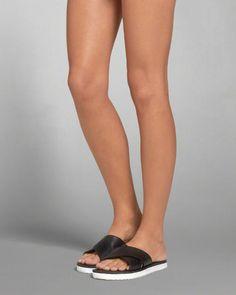 Lug Sole Slide Sandals