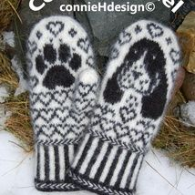 Knitting Patterns Mittens Ravelry: Cocker Spaniel Mittens pattern by Connie H Design Knitted Mittens Pattern, Crochet Mittens, Knitted Gloves, Knitting Socks, Hand Knitting, Knitting Patterns, Knit Crochet, Crochet Hats, Fingerless Mittens