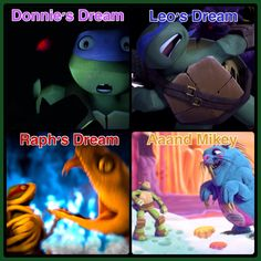 TMNT 2012←I actually found Mikey's dream the most terrifing, Dave beaver did not try to scare him, maybe because he couldn't, he just play with him and drain him, there was no scream or fear or anything like that, he tried to kill him nicely...like a Weeping Angel