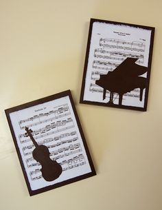quadres amb siluetes - Quill the violin and the piano with black coils Birthday Cards For Men, Man Birthday, Music Centerpieces, Piano Crafts, Musical Cards, Music Themed Parties, Diy And Crafts, Paper Crafts, Music Paper
