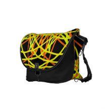Kaleidoscope Mandala Art Joyful Colors Yellow Bag Courier Bag