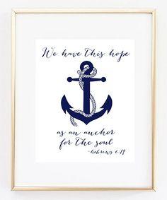 Look what I found on #zulily! Anchor Print #zulilyfinds