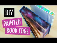 DIY Galaxy & Floral Painted Book Edge | Sea Lemon - YouTube
