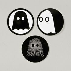 I've been in a Ghostly mood lately.  One of the best record label logos ever.