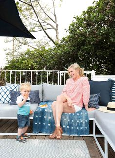 Emily Henderson's Family-Friendly Patio - Home Tour - Lonny